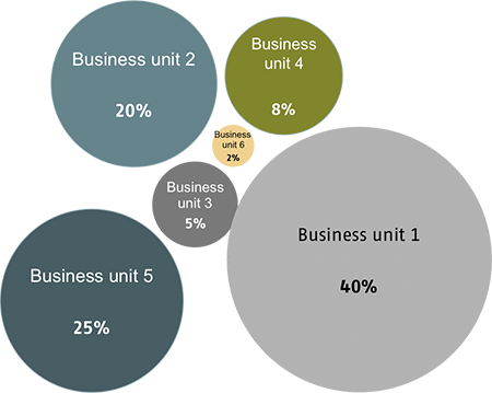 Environmental effects per single business units